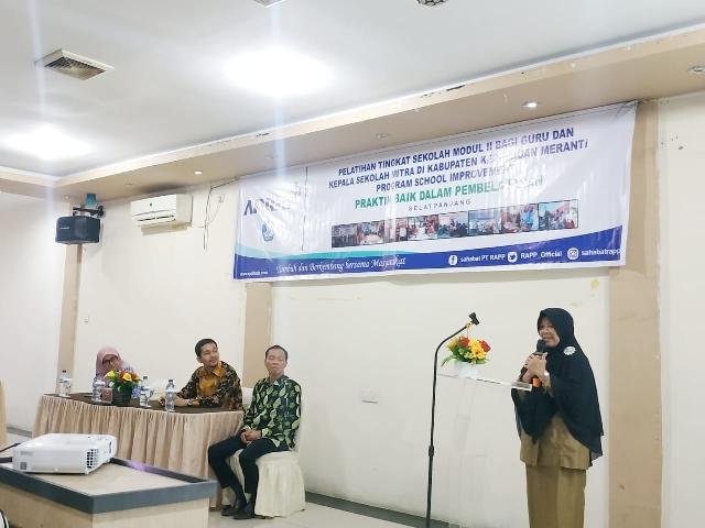 Program School Improvement CD PT RAPP Diharap Berdampak Pada Peningkatan Mutu Pendidikan Meranti